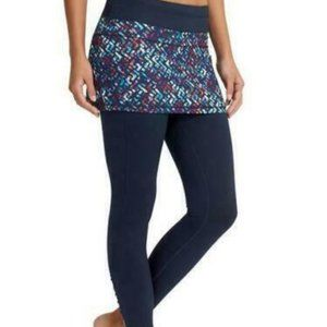 NWOT Athleta Placid 2 in 1 Tight Navy 2x